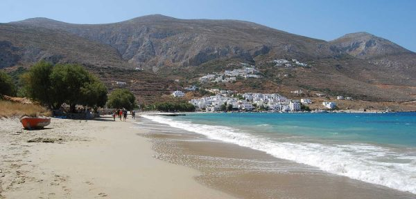 The Sandy Beach of Aegiali Amorgos