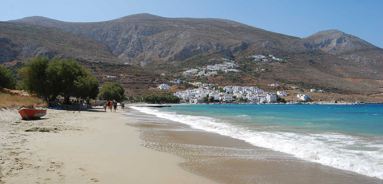 The Sandy Beach of Aegiali Amorgos
