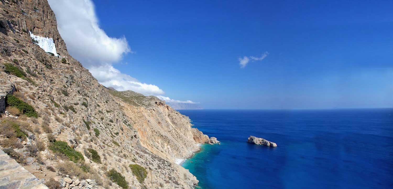 The Monastery of Hozoviotissa on Amorgos Sights Ancient and Religious